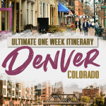 Denver One Week Itinerary Pin