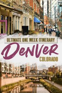 Denver One Week Itinerary Pin
