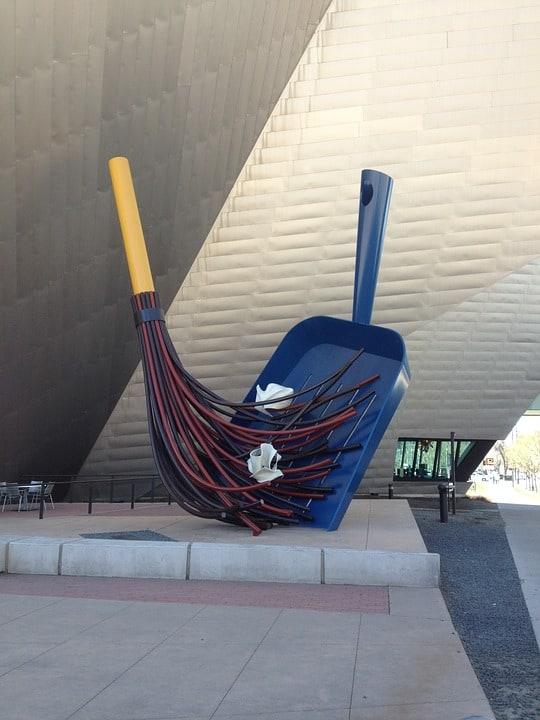 Public art - dust pan