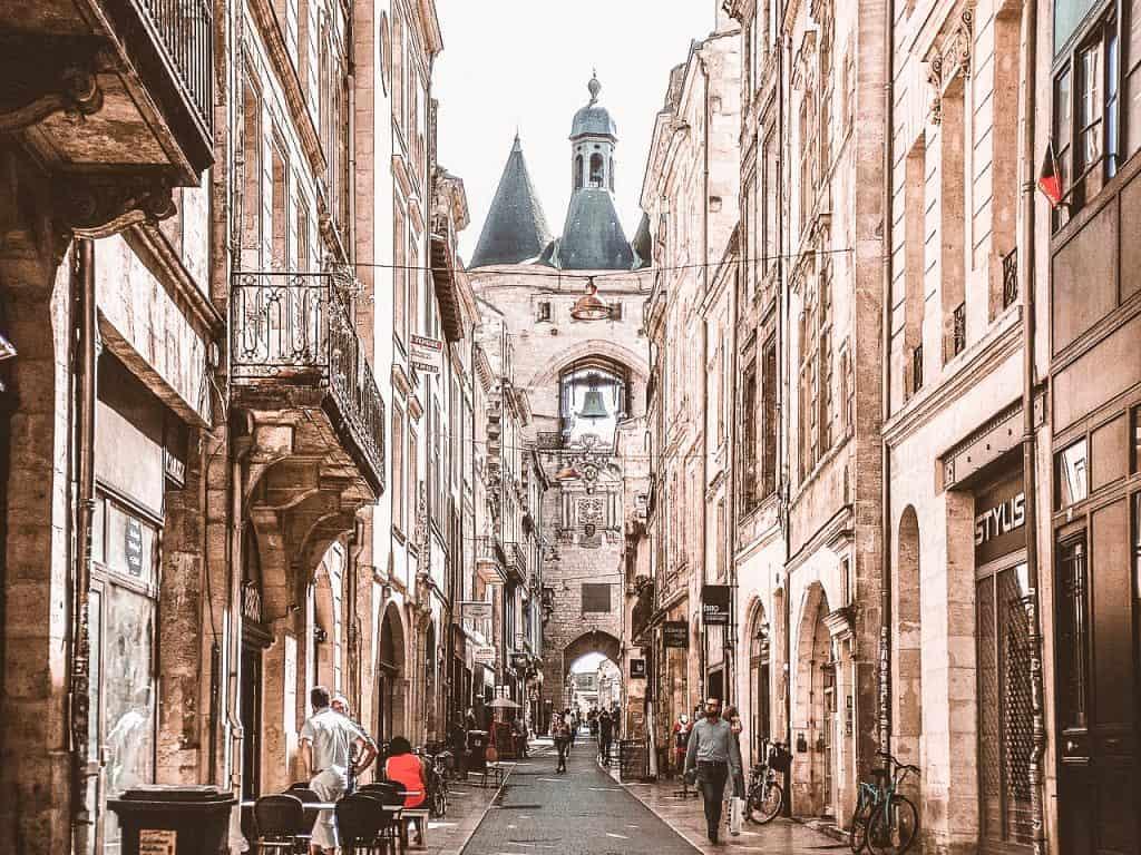 Bordeaux France street scene