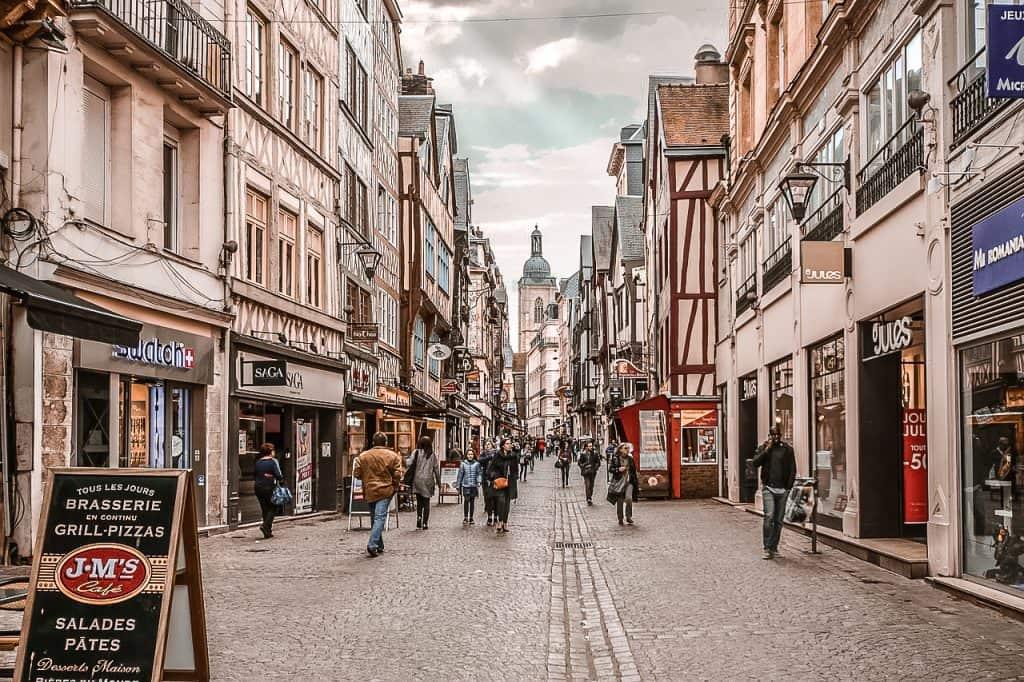 Rouen France street